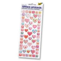 3D Epoxy Stickers - Autocollants Coeurs