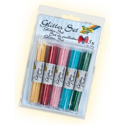Assortiment de paillettes en 5 Tubes de 5 Couleurs
