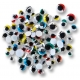Yeux vacillants couleurs - avec cils - 100 pcs assorties