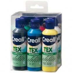 Peinture textile Creall-Tex Kit 6 x 80 ml