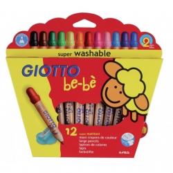 Super Crayons Giotto - étui de 12 couleurs