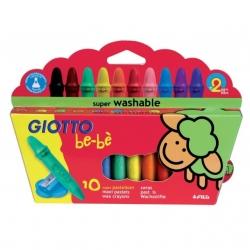 Super Craies Cire Giotto - étui de 10 couleurs