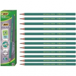 Crayons gris HB BIC-Ecolutions - 12 pièces