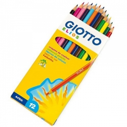 Crayons Giotto Elios  - 12 couleurs