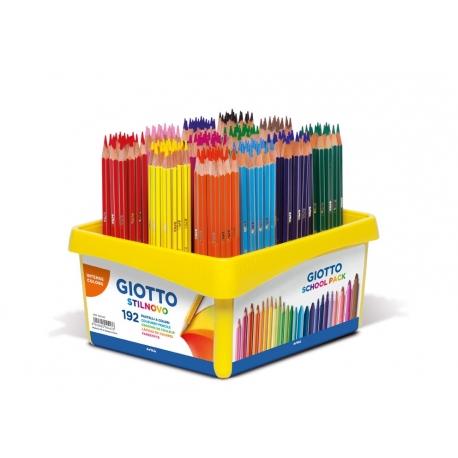 Crayons Giotto Stilnovo schoolpack 192 crayons