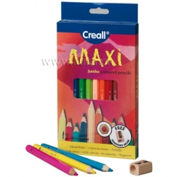 Crayons à grosse mine Creall-Maxi - 12 couleurs