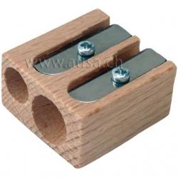 Taille-crayons double en bois