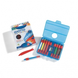 Crayons cire aquarellable Giotto Cera Aquarell - 10 couleurs