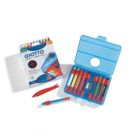 Crayons cire aquarellable Giotto Cera Aquarell - 10 couleurs