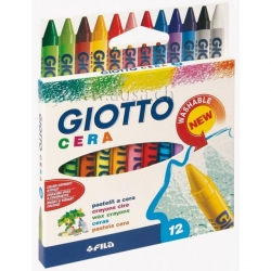 Crayons cire Giotto Cera - 12 couleurs