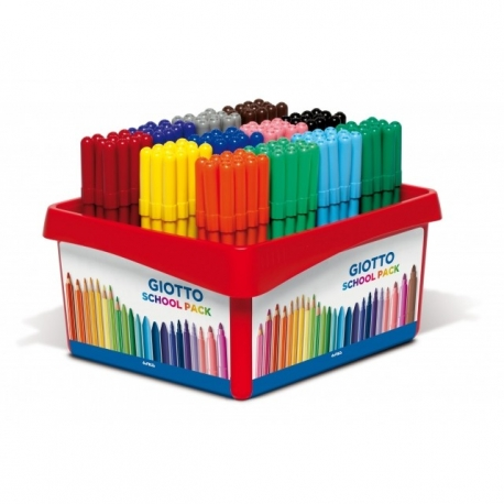Feutre Giotto Turbo Color Schoolpack 144 pièces