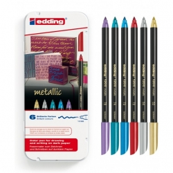 Feutre edding 1200 Metallic Color Pen - 6 pcs