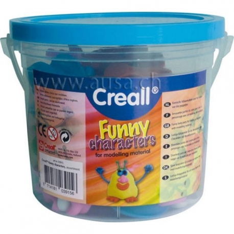 Seau Funny Characters Creall - 128 pièces