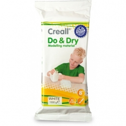 Creall Do&Dry pâte à modeler blanche 1 kg