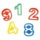 Emporte pièces Giotto Patplume 42 pièces, chiffres et lettres
