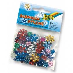 Pierres décoratives en acryl Fleurs - 200 pcs