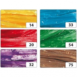 Raphia synthétique en 6 couleurs