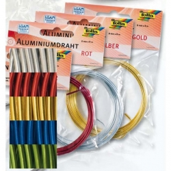 Fil d'aluminium - assortiment 5 couleurs