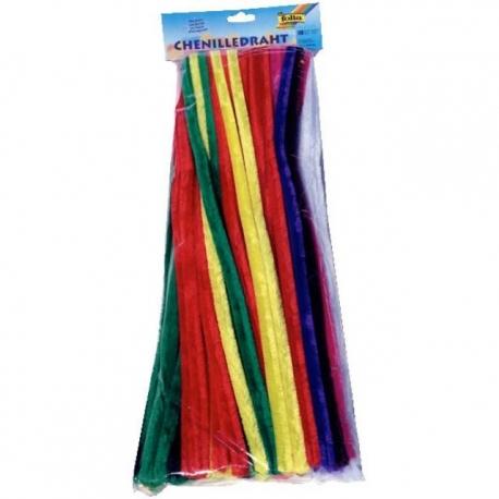 Cure-pipes Ø 14 mm - multicolore - 100 pcs
