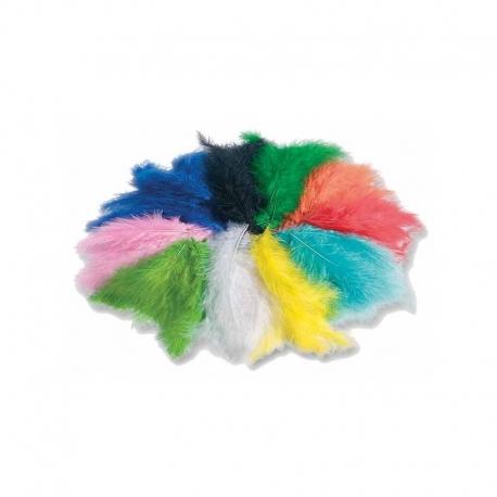 Plumes marabout colorées - 10g