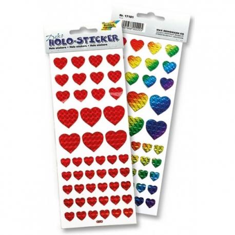 Holo-Sticker Coeurs 96 pièces