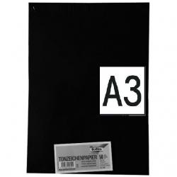 Papier à dessin A3 Noir, 130 g/m²