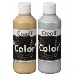 Gouache couleur Or et Argent Creall color