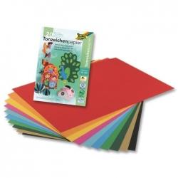 Bloc de papier à dessin A4, 130 g/m² - couleurs assorties