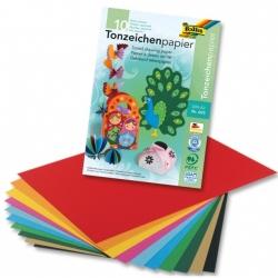 Bloc de papier à dessin A3, 130 g/m² - couleurs assorties