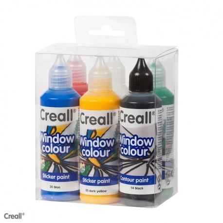 Kit Peinture Creall Windowcolor stickerpaint 6x80ml