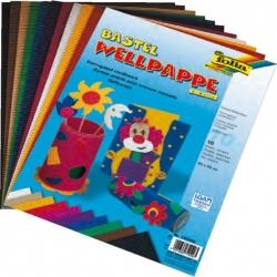 Carton ondulé en 10 couleurs - 25x35 cm