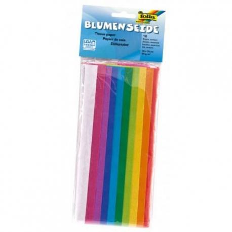 Papier de soie en 10 couleurs - 50x70 cm