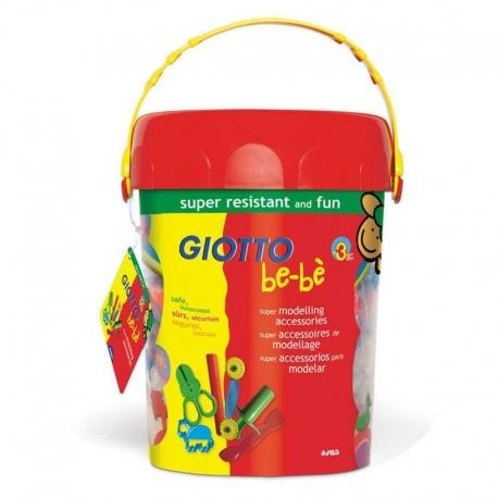 Seau d'accessoires de modelage Giotto be-bè - 42 pcs