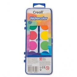 Boîte de gouache Creall Watercolor 12 pastilles avec pinceau