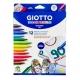 Feutre Giotto Decor textile 12 couleurs