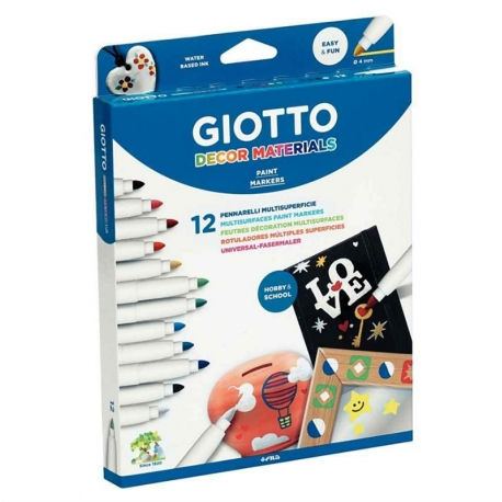 Feutre Giotto Decor Materials - 12 couleurs
