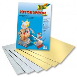 A4, 300g/m² - (10 feuilles) Or/Argent - papier cartonné